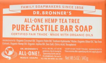 Dr Bronner 140 g Organic Tea Tree Soap Bar
