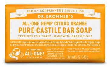 Dr. Bronner Citrus Bar Soap Made with Organic Ingredients 140 g