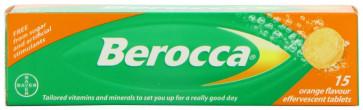 Berocca Vitamin B  Orange Effervescent 15 Tablets