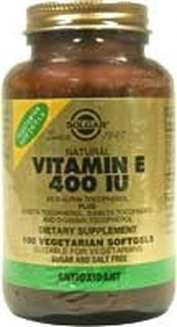 Solgar 268 mg Vitamin E Vegetable Softgels - Pack of 50