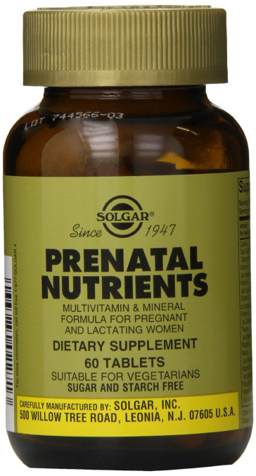 Solgar Prenatal Nutrients Tablets - Pack of 60