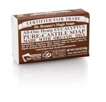 Dr. Bronner Eucalyptus Bar Soap Made with Organic Ingredients 141 g