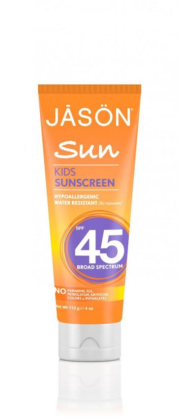 JASON Natural Cosmetics Sunbrellas Natural Sun Care Kid's Block, SPF 45, 4 oz Tubes