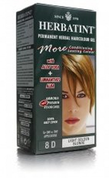 Herbatint 8D Light Golden Blonde Permanent Herbal Hair Colour Gel 135ml