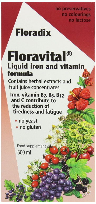 Floradix Floravital Iron Vitamin Formula Liquid 500ml