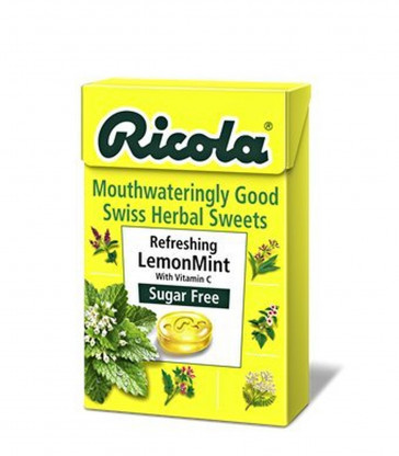 Ricola Lemon Mint Sugar Free Drops, 45 g