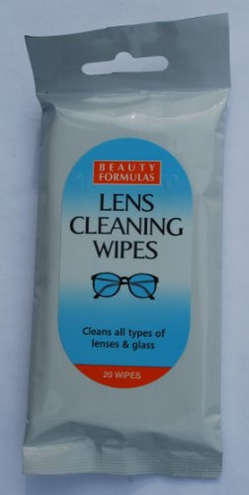 Pack of 20 lens cleaning wipes