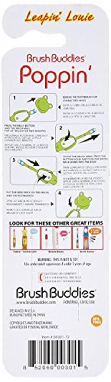 Brush Buddies Manual Poppin Leapin Louie Toothbrush