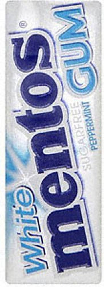 Mentos White Sugarfree Peppermint Gums 14 g (Pack of 40)