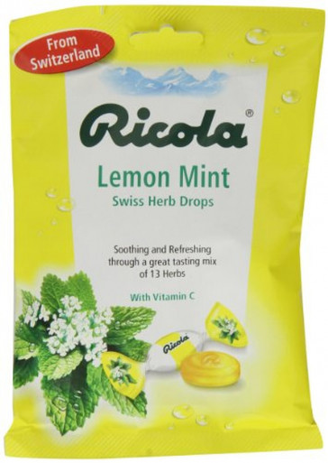 Ricola Lemon Mint Bag 70 g (Pack of 6)