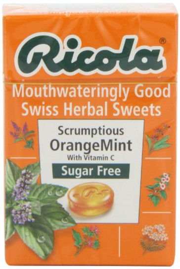 Ricola Orange Mint Sugar Free Box 45 g  Pack of 10