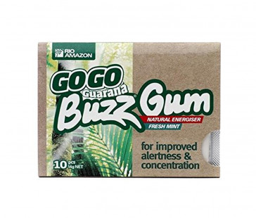 TRIPLE PACK of Rio Trading GoGo Guarana Buzz Gum 10 Chiclets