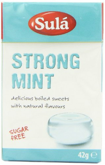 Sula Sugar Free Strong Mint Sweets 42 g Pack of 14