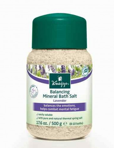 Kneipp BALANCING MINERAL BATH SALT Balances The Emotions LAVENDER 500g