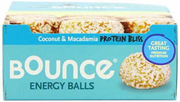 Bounce Coconut and Macadamia Protein Bliss Energy Balls 40 g (Pack of 12)