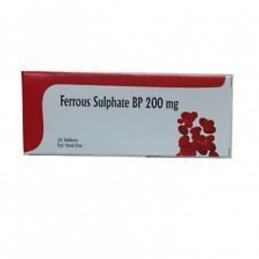 Ferrous Sulphate 200mg Tablets (28 Tablets)