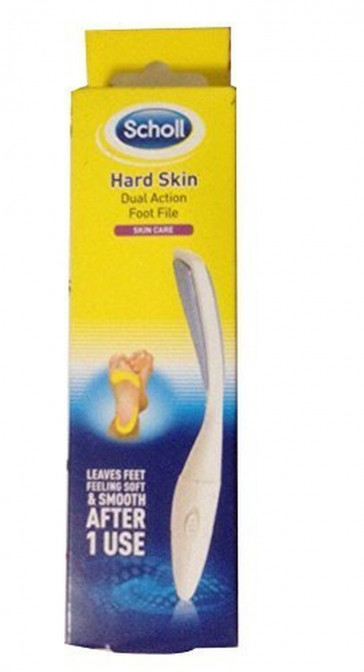 Scholl Dual Action Foot File Removes Dry Roughskin
