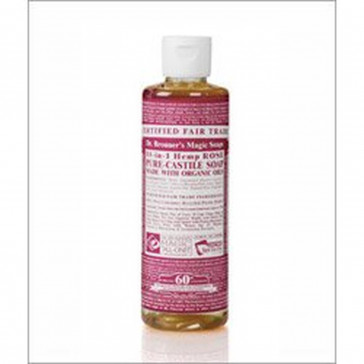 Dr Bronner Rose Castile Liquid Soap 236ml