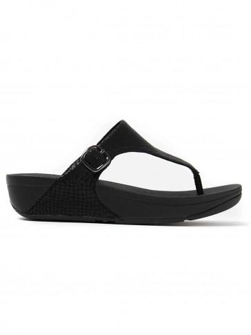 FitFlop Black Snake The Skinny size UK6 flip flops