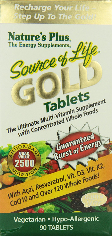 Nature's Plus Source of Life Gold Tablets 90 Caps