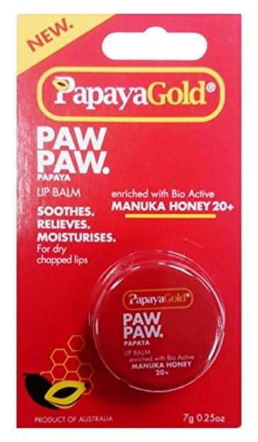PapayaGold Paw Paw Lip Balm Tub, 7 g