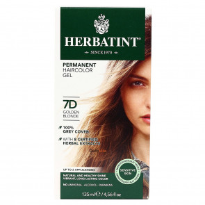 Herbatint 7D Golden Blonde Permanent Herbal Hair Colour Gel 150ml