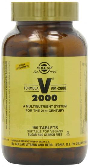 Solgar Formula VM-2000  Tablets (Multi-Nutrient System With Herbs) - 180 tablets
