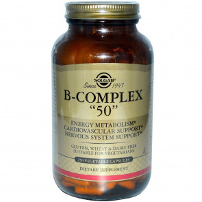 "Solgar Formula Vitamin B-Complex ""50"" Vegetable Capsules - 100 Vegicaps"