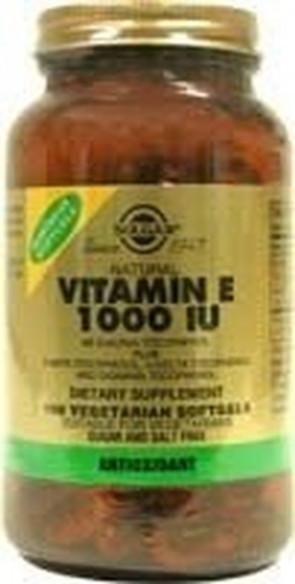 Solgar Vitamin E 671mg (1000iu) Vegetarian Softgels 50 Vegi softgels