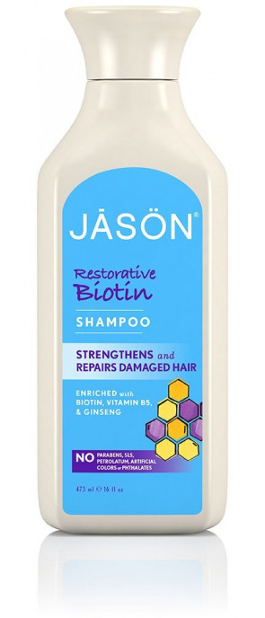 Jason Natural Products Natural Biotin Shampoo 473 ml