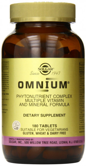 Solgar Omnium Tablets (Multiphytonutrient Complex) 180 Tablets