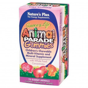 Natures Plus ANIMAL PARADE GUMMIES ASSORTED 75