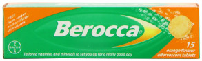 Berocca Vitamin B  Orange Effervescent 15 Tablets