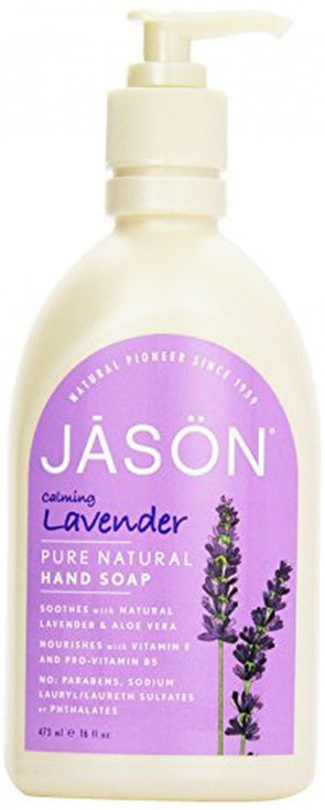 Jason Natural Cosmetics Lavender Liquid Satin Soaps 16 fl. oz. 209606