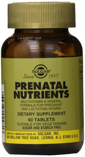 Solgar Prenatal Nutrients Tablets - Pack of 60