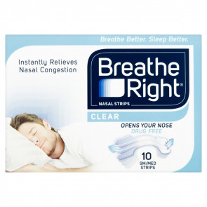 Breathe Right Nasal Strips, Large - Clear, 10 Pack