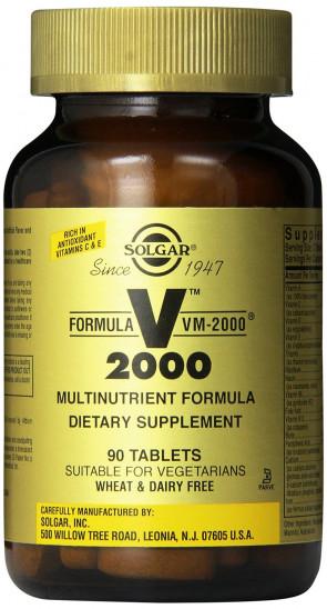 Solgar VM2000 Multi-Nutrient tablets 90 Tablets