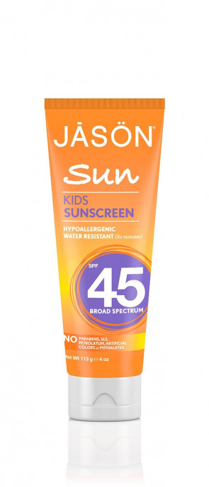 JASON Natural Cosmetics Sunbrellas Natural Sun Care Kid's Block, SPF 45, 4 oz Tubes