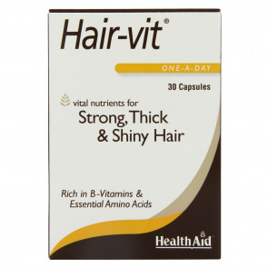 HealthAid Hair Vitamins for Hair Growth with Essential Vitamins and Minerals, 30 Capsules