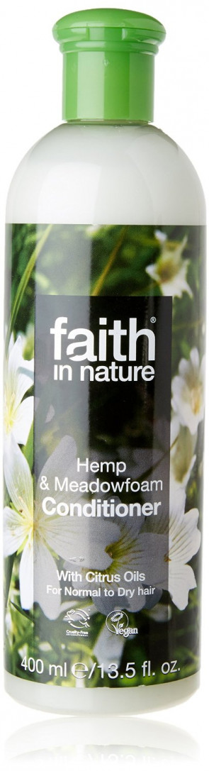 Faith In Nature Hemp & Meadowfoam Conditioner For Normal & Damaged Hair 400ml