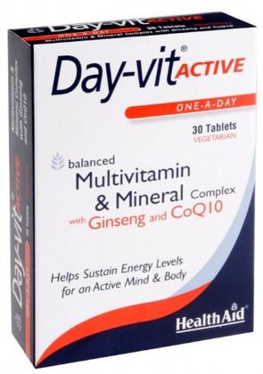 HealthAid Day-vit ACTIVE - 30 Vegetarian Tablets