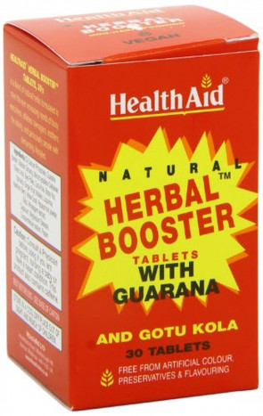 HealthAid Herbal Booster - Guarana, Ginseng, Gotu Kola - 30 Tablets