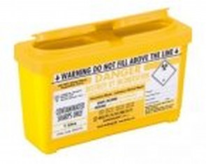 Sharpsguard Sharps Bin 1 litre - Yellow