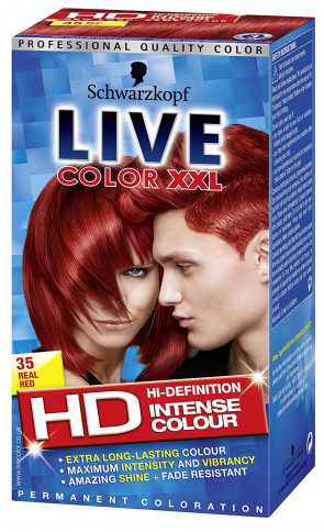 Schwarzkopf Live XXL Colour Intense Permanent Coloration 35 Real Red