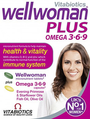 Vitabiotics Wellwoman Multivitamin Plus Omega 3, 6 and 9, 56 Tablets