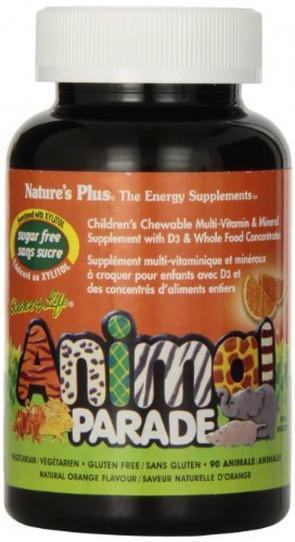 Source of Life, Animal Parade, Children's Chewable, Sugar Free, Natural Orange Flavour, 90 Animals