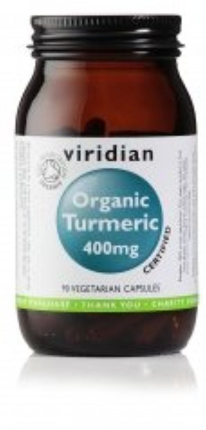 Viridian - Organic Turmeric 400mg: 90 Veg Caps