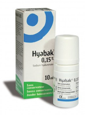 HYABAK MOISTURISING AND LUBRICATING SOLUTION FOR EYES AND CONTACT LENSES - 10 ML