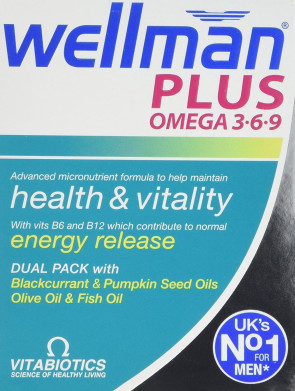 Vitabiotics Wellman Plus Omega 3∙6∙9 - 56 Tablets/Capsules