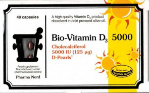 Pharma Nord 125µ Bio-Vitamin D3 D-Pearls 40 Tablets